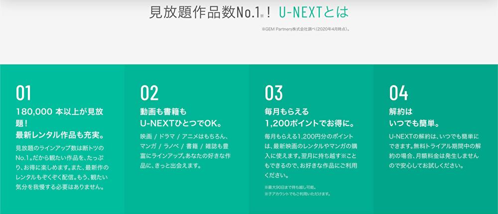 U-NEXTのメリット