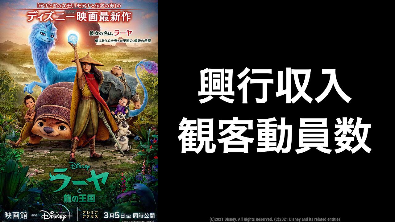 映画『ラーヤと龍の王国』現在の興行収入推移と最終興収を元映画館社員が予想