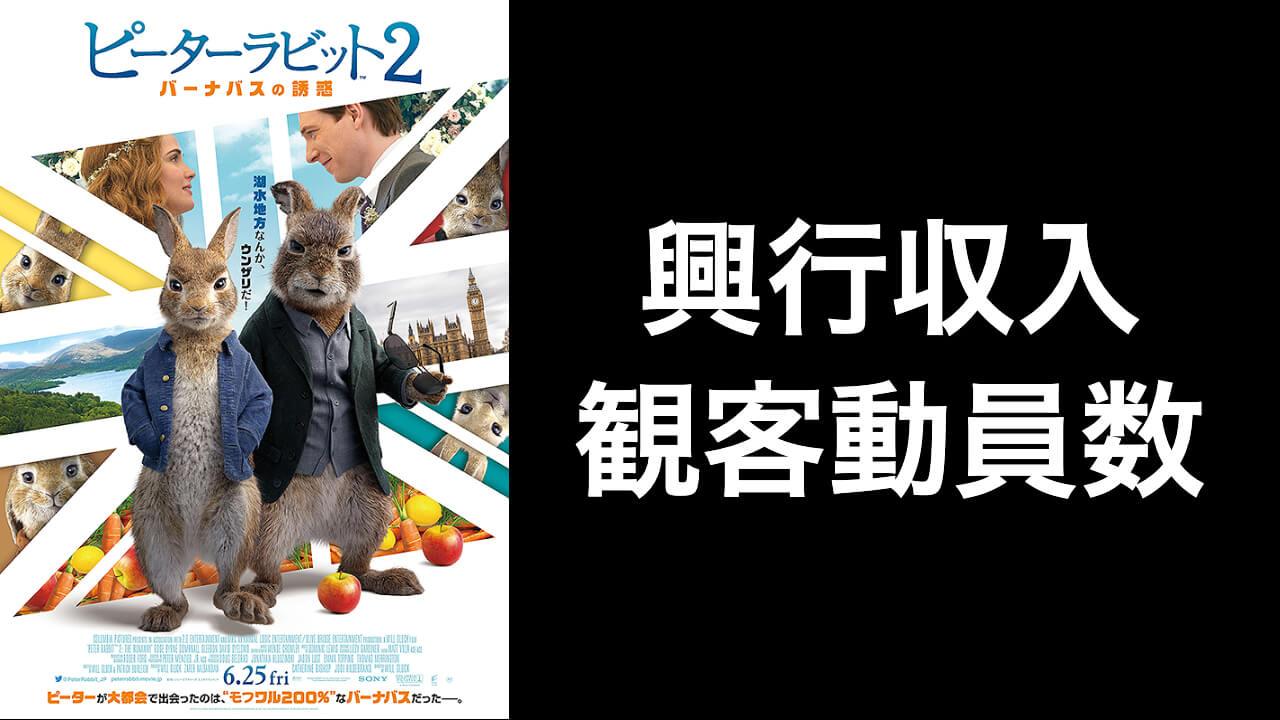 映画『ピーターラビット2』興行収入推移と最終興収を元映画館社員が予想
