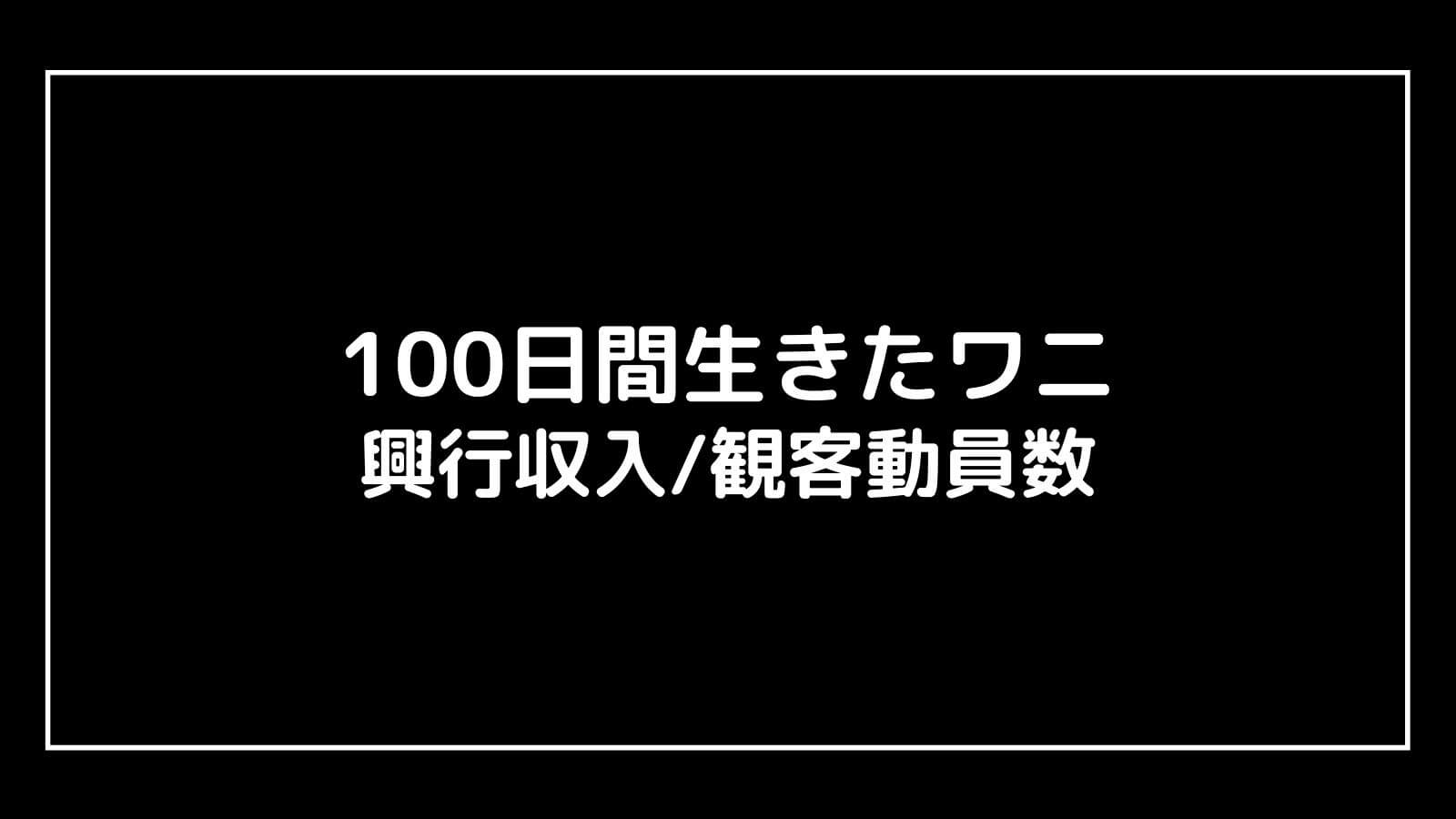 映画『100日間生きたワニ』興行収入推移と最終興収を元映画館社員が予想【100日後に死ぬワニ】