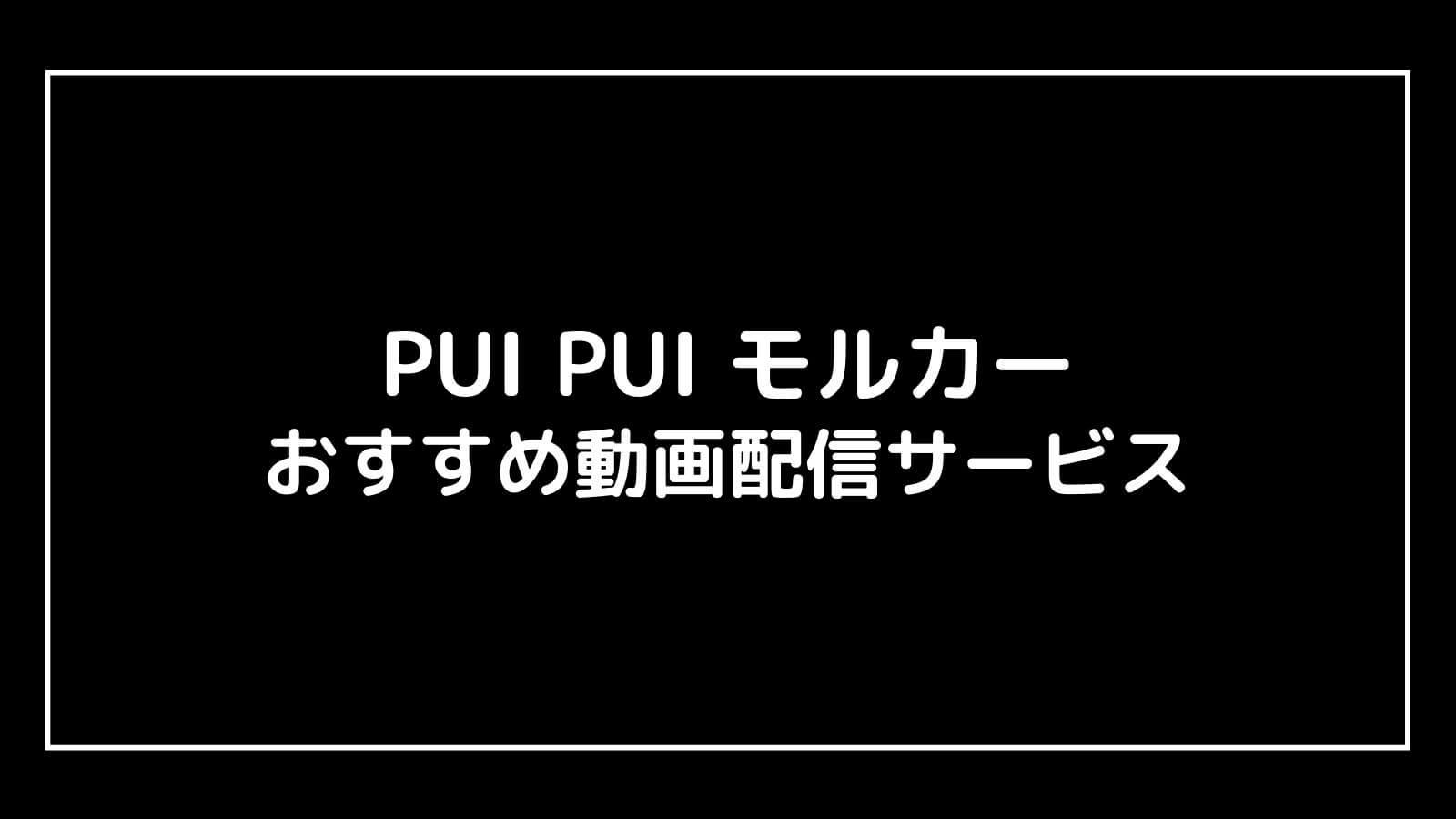 映画『PUI PUI モルカー』の無料映画配信を視聴できるおすすめ動画配信サイト