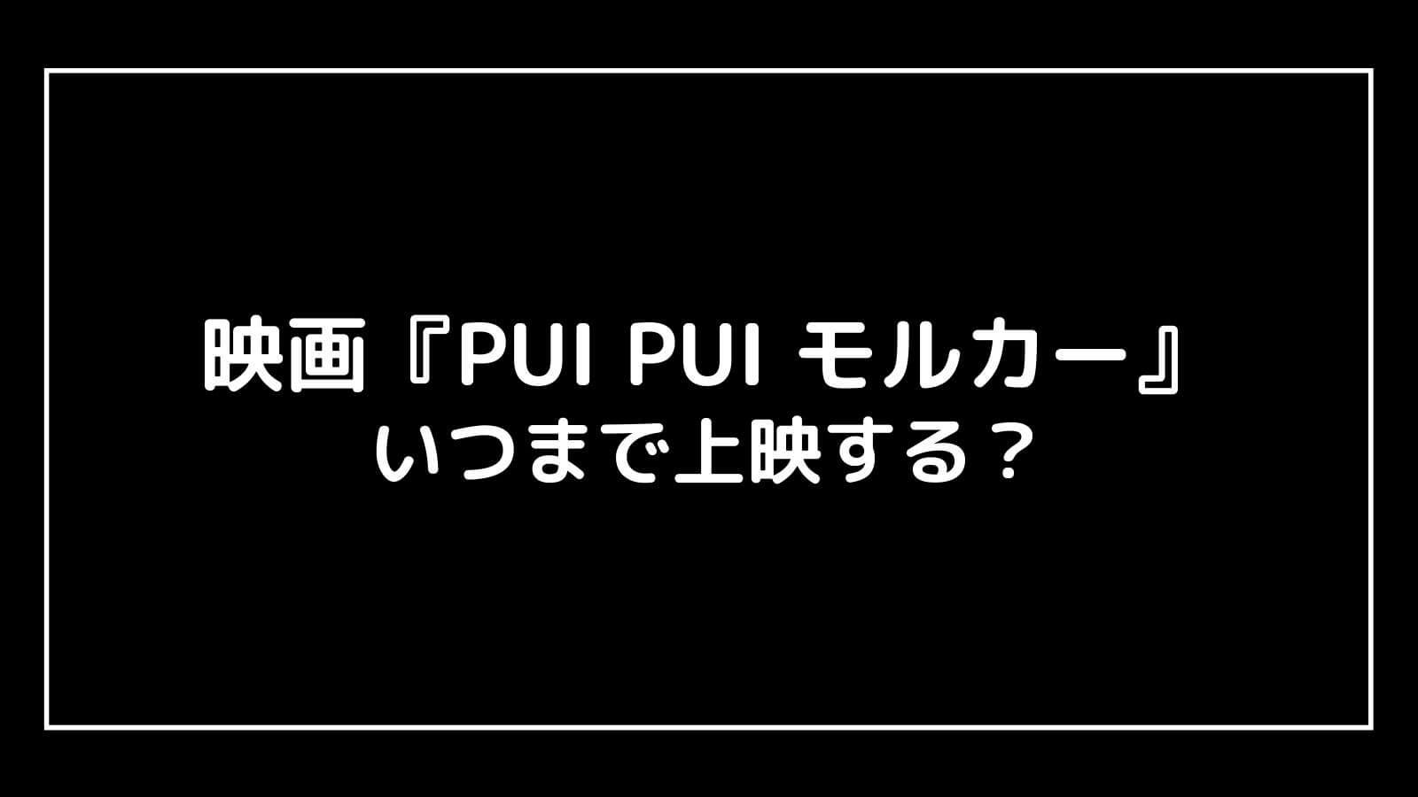 映画『PUI PUI モルカー』はいつからいつまで上映する?元映画館社員が公開期間を解説