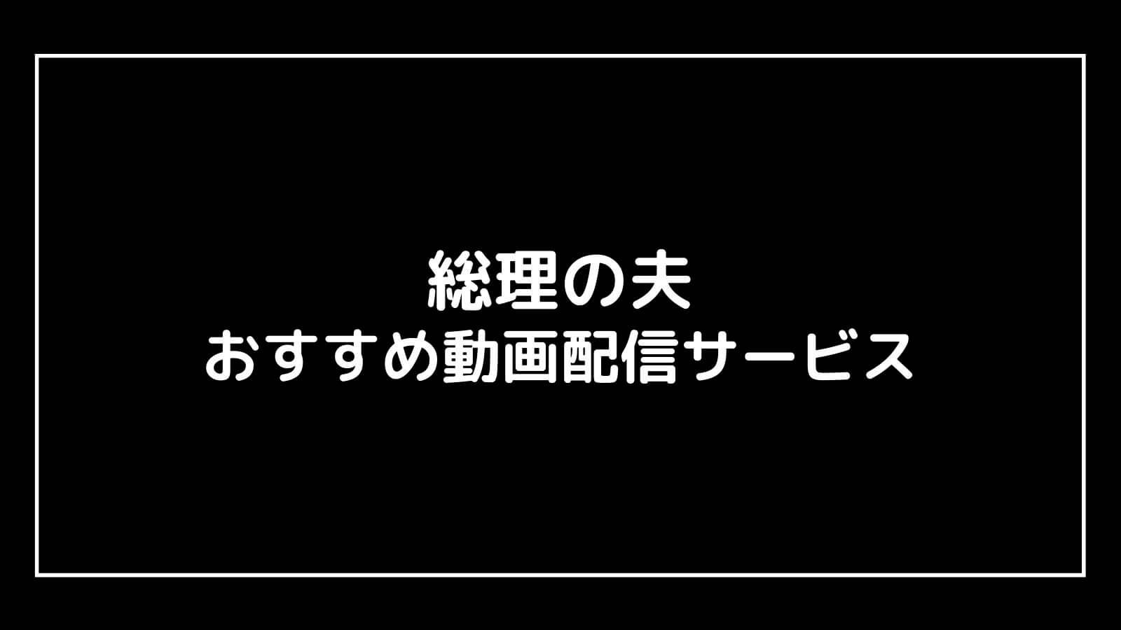 映画『総理の夫』を無料視聴できるおすすめ動画配信サービス